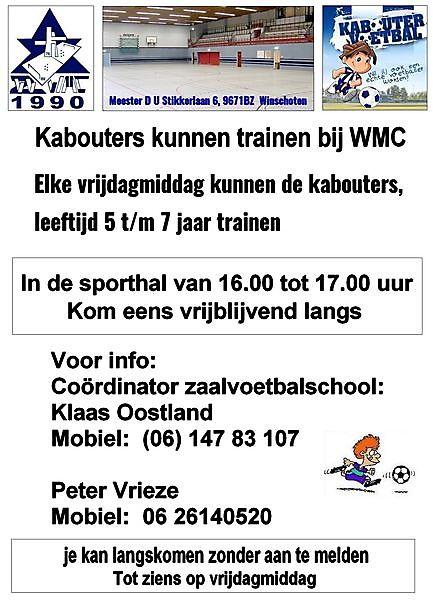 Kom een mee trainen bij de kabouters Winschoten