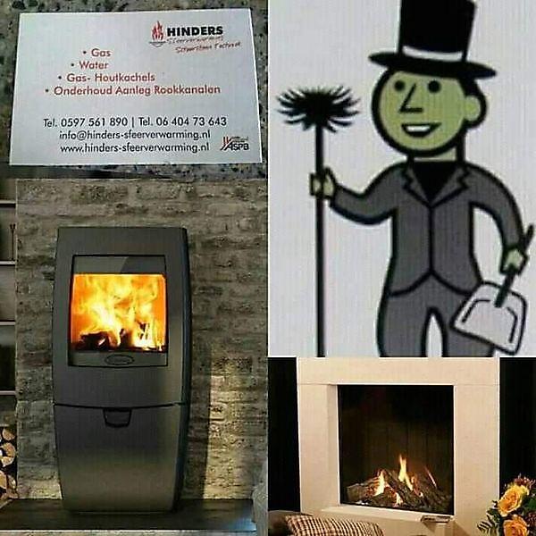 Ook voor loodgieterwerkzaamheden , onderhoud en installeren  van kachels en kopen van nieuwe kachels moet U bij Hinders-sfeerverwarming zijn Blijham
