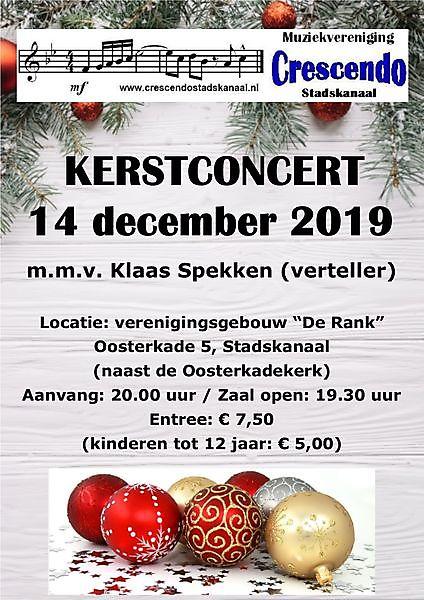Kerstconcert Crescendo Stadskanaal Stadskanaal