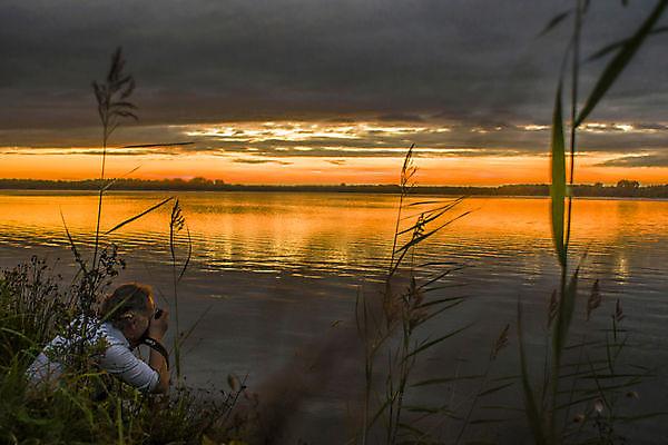 Foto Ondergaande zon Winschoten