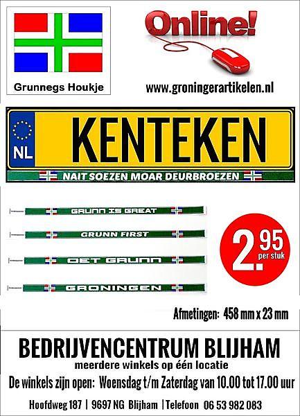 Foto Groninger Kenteken Stickers Blijham