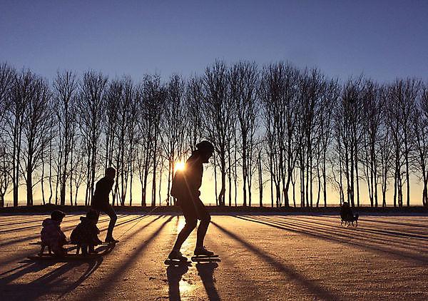 Foto schaatsen op natuurijs in Drieborg Drieborg