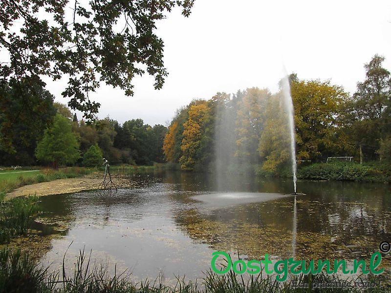 Vijver met fontein Winschoten