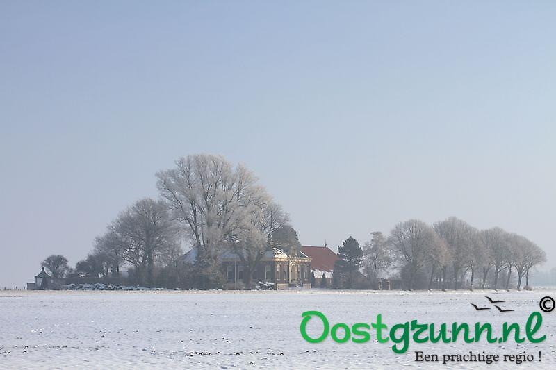 Sneeuw in Oostwold Oostwold