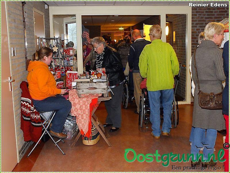 kerstmarkt in zorgcentrum de Blanckenborg Blijham