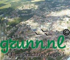 kiekjes vanuit de lucht op Oldambt Winschoten