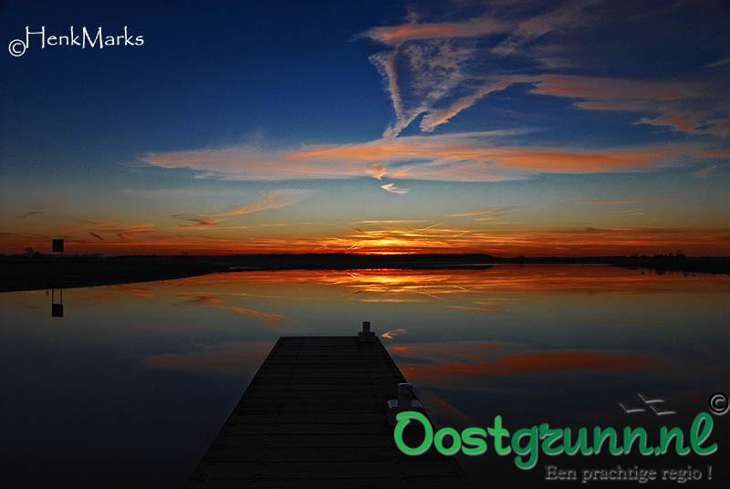 Zonsondergang Oostwold