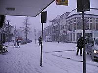 Sneeuw in het centrum Winschoten, Oldambt