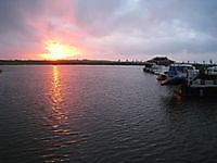 Zonsondergang in de Reiderhaven Beerta, Oldambt