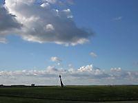 Boei op de dijk Nieuw Statenzijl, Oldambt