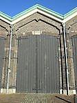 Houten deuren locomotief remise Bad Nieuweschans, Oldambt