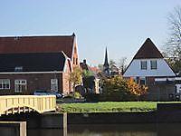 Zicht op de toren van de Hoofdwacht Bad Nieuweschans, Oldambt