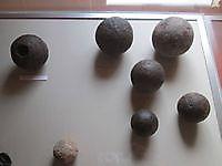 Kanonskogels in het vestingmuseum Oudeschans, Oldambt