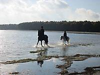 Paardrijden op het strand Midwolda, Oldambt