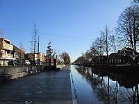 Steiger langs het kanaal in het centrum Stadskanaal, Stadskanaal