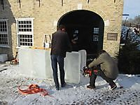 Icecarving en bouwen met ijsblokken Bourtange, Westerwolde