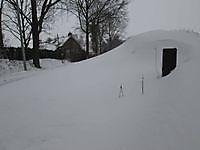 Heel veel sneeuw Finsterwolde, Oldambt
