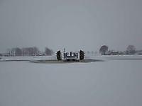 Fietspontje Reiderwolde vastgevroren Blauwestad, Oldambt