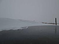 Sneeuwduinen op het ijs Blauwestad, Oldambt