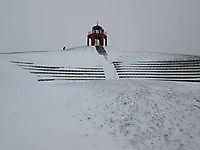 Toren Reiderwolde met sneeuw Blauwestad, Oldambt