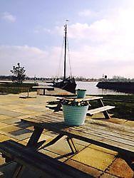 Uitzicht vanaf het terras Azzurro eten & drinken Blauwestad, Oldambt