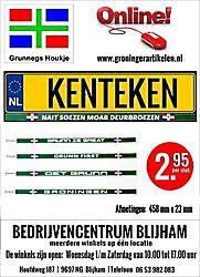 Groninger Kenteken Stickers Blijham, Heel Oost-Groningen