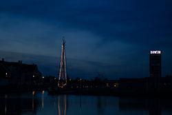 Blauwe avond in blauwe stad. Blauwestad, Oldambt