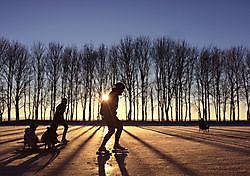 schaatsen op natuurijs in Drieborg Drieborg, Oldambt