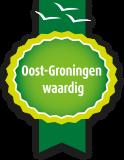 Oost-Groningen Waardig keurmerk raamsticker