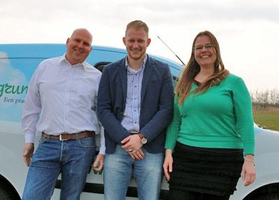 Het team van Oostgrunn.nl: Leo Hoogma, Rick Heeres, Ivonne Sprok