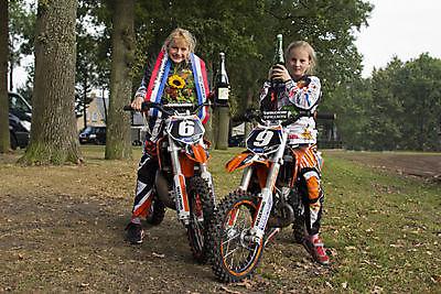 Angela Lageman Nederlands Kampioen 50cc Grasbaan Zuidbroek