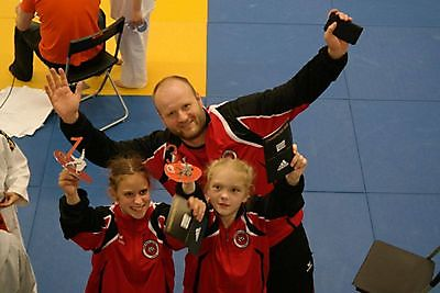 Judogoud voor Cindy Oost tijdens Friese Masters. Finsterwolde